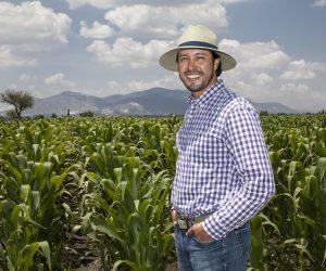 Anwar Estrada uno de los grandes productores de maíz, quien trabaja bajo el esquema de Alta productividad en el campo